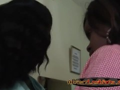 Busty african lesbians pleasing each other with intense fingering Thumb