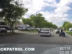 BLACK PATROL - Illegal Street Racing Black Thugs Get Busted By MILF Cops Thumb