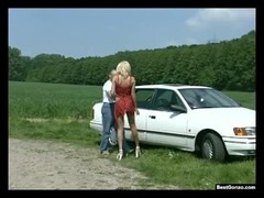 Roadside Fuck For German Milf Nicoletta Blue Thumb