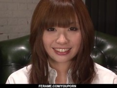 Teen Mami Yuuki jizzed on face after serious blowjob Thumb