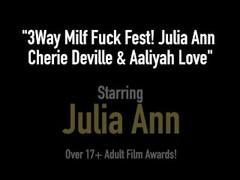 3Way Milf Fuck Fest! Julia Ann Cherie Deville & Aaliyah Love Thumb