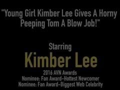 Young Girl Kimber Lee Gives A Horny Peeping Tom A Blow Job! Thumb