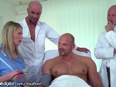 3 Doctors, 1 Patient & A Young Nurse Gangbang Thumb