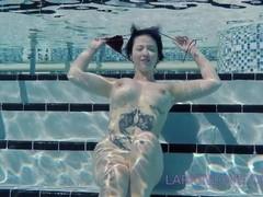 Larkin Love public masturbation finger fucking underwater full nudity Thumb