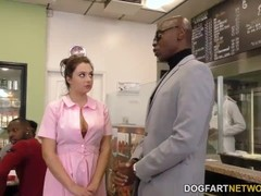 Waitress Elektra Rose Gangbanged By Black Customers Thumb