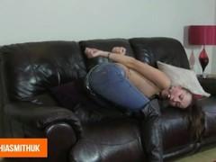Sophia Smith Jeans Chained Bondage Thumb