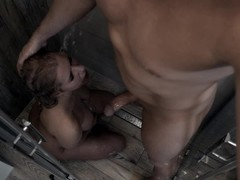 Rough facefuck on the shower an huge cumshot on Kate Truu Face Thumb