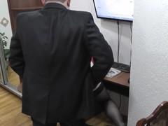 Office secretary. Boss fucks secretary and cumshot. Hidden camera office Thumb