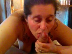 Ugly Fat slut sucks big dick until he cums. Thumb