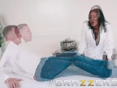 Brazzers - Audrey Bitoni gets physical... therapist Thumb