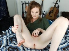 Ass to mouth and deep dildo fucking in socks and sweater by Melody Lane Thumb
