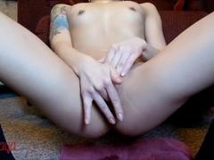 Saya Song Fingering Shaved Pussy & Squirting Close-up Thumb