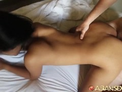 Asian Sex Diary - Big white cock fills young Filipinas cunt with cum Thumb
