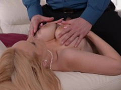 Quality Check - An Anal Loving Busty Babe's Titty Fuck Audition Thumb