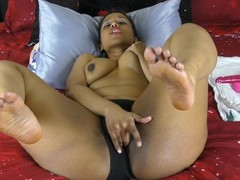 Indian With Big Ass Shoving Dildo In Her Pussy Thumb