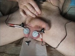 Electro tortured balls made to cum Thumb