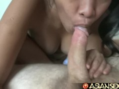 Asian Sex Diary - Filipina with hairy pussy gets creampied by white cock Thumb