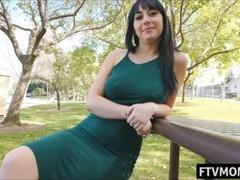 Big tits MILF in public Thumb