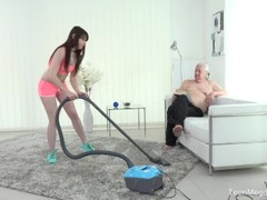 Old-n-Young.com - Luna Rival - Old man makes sweetie kneel Thumb
