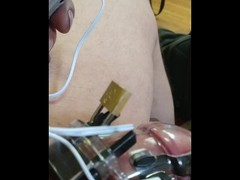 Male chastity electro shock Thumb
