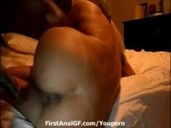 Chubby brunette milf ass busted by black hard cock Thumb