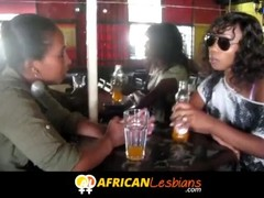 Cute lesbians in African hook up Thumb