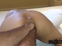 Extreme amateur double anal fisting Thumb
