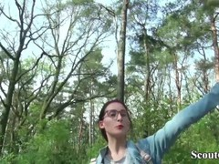 German Scout - College Redhead Teen Lia in Public Casting Thumb