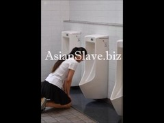 Asian Slave Public Toilet Licking - BDSM Thumb