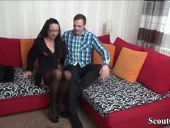 Skinny German Amateur Teen in First User-Date in Stockings Thumb