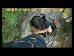 theSandfly Sexbites - Amateur Go-Pro Public Porno Show! Thumb