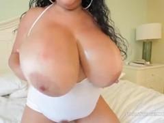 Huge Boob Milf Carol Foxxx Titty Fucks Big Black Cock Thumb