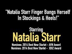 Natalia Starr Finger Bangs Herself In Stockings & Heels! Thumb