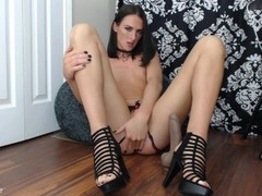SkyrieRose loves her thick dildo in ass to mouth scene Thumb