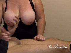 Amazing Topless Handjob - Big Tits & Big Cock - Great Handjob in 4K CUMSHOT Thumb