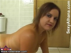 Anal Glass Toying in Bathroom - ALHANA WINTER - RottenStar Vintage Thumb