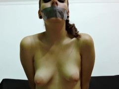 Young Secretary Submits Sexually After Duct Tape Bondage Thumb