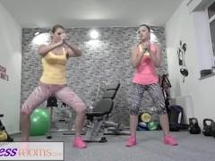 Fitness Rooms Big butt lesbians get hot and horny Thumb