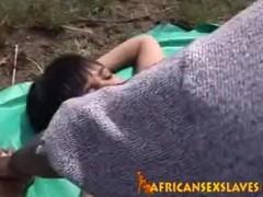 Real African Teen Sex Slave BBC Blowbang Thumb