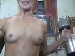 Muscular Female Redhead Gets Groped in POV Thumb