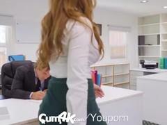 CUM4K MULTIPLE DRIPPING creampies with office secretary Lena Paul Thumb