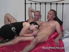 British MILF Tanya Cox sucks and fucks large white cocks Thumb