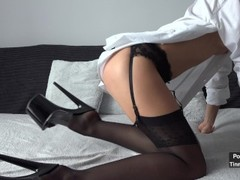 Cheating Secretary Creampied By Her Boss After Work 4K Thumb