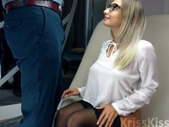 Blonde Suck Big Cock and Handjob for Cum in Mouth Thumb