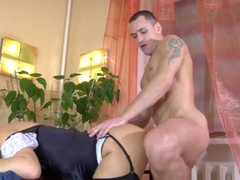 Russian mature Bridget gets fucked before he leaves for work. Thumb