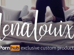 Fuck her hard - Ripped yoga pants and ankle socks - LenaLouix Custom Thumb