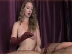 handjob Leather Gloves Joi mistress T Thumb