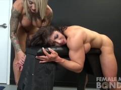 Muscle Female Lesbian Porn Stars Dani and Brandimae Thumb