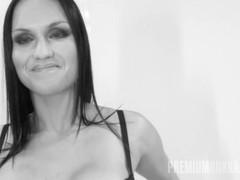 PremiumBukkake - Barbara Bieber swallows 48 big loads in gangbang bukkake Thumb