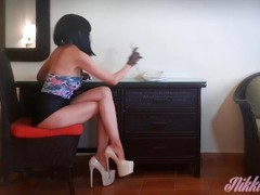 Personal Assistant fucked hard and gets a facial in her luxury office Thumb